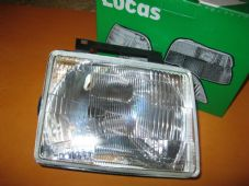 VAUXHALL OPEL CORSA (83-89) DRIVERS SIDE O/S NEW HEADLIGHT UNIT - GENUINE LUCAS